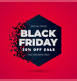 black friday sale explosion vector image
