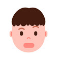 boy head with facial emotions avatar character vector image