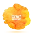 Bright orange isolated watercolor stain vector image vector image