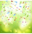 Bright shiny confetti abstract design template vector image vector image