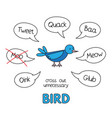 cartoon bird kids learning game vector image