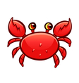 cartoon red crab vector image vector image