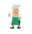 chef thumb up vector image vector image
