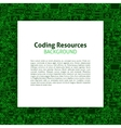 coding resources paper template vector image vector image