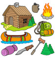 collection of outdoor objects vector image
