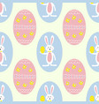 colorful easter eggs and bunny seamless pattern vector image
