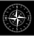 compass white on black background vector image