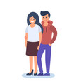 couple young man and woman vector image