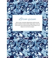 cute card cover with abstract blue background vector image vector image