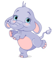 Dancing baby elephant vector image vector image