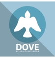 dove icon design vector image