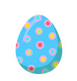 easter red egg with colorful dot decoration vector image vector image