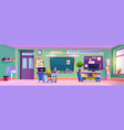 empty classroom interior with furniture and decor vector image