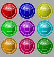 File annex icon Paper clip symbol Attach sign vector image