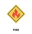 Fire Warning vector image vector image