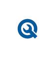 fix letter q logo icon design vector image