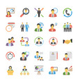 flat icons of human resources vector image