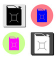 fuel jerrycan flat icon vector image vector image