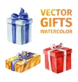 gifts watercolor 3 vector image vector image