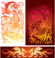 golden dragon vector image vector image