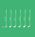 golf club set vector image vector image