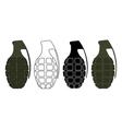 Grenades set Color contour silhouette vector image vector image