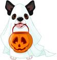 halloween dog vector image vector image