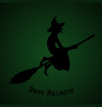 halloween party a witch on a broomstick halloween vector image vector image