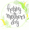 hand drawn mothers day lettering with branches vector image vector image