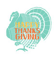 happy thanksgiving card with lettering decoration vector image vector image
