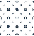 headphone icons pattern seamless white background vector image vector image