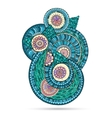 Henna Paisley Mehndi Doodles Abstract Floral vector image vector image