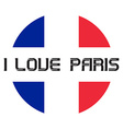 I love Paris t-shirt templates vector image vector image