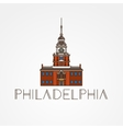 Independence Hall The symbol of Philadelphia USA vector image