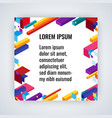 infographic background with colorful geometric vector image vector image