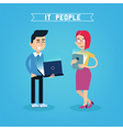 IT People IT Professional Programmer with Laptop vector image