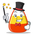 magician candy corn character cartoon vector image vector image