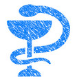 medicine snake emblem grunge icon vector image