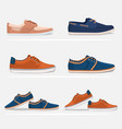 men shoes set vector image vector image