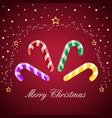 merry christmas candy cane vector image vector image