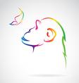 Monkeys and butterflies vector image vector image