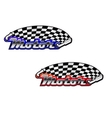 Motor racing icons in two colour options vector image vector image