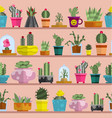 nature succulent home cactus tropical plant vector image vector image