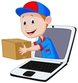 Online delivery cartoon vector image vector image