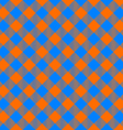 orange and blue tablecloth diagonal seamless vector image vector image