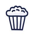 popcorn icon design popcorn box isolated on white vector image vector image