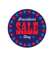 presidents day sale typography graphic in circle vector image vector image