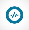 pulse bold blue border circle icon vector image vector image