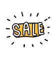 sale icon shopping doodle style vector image
