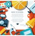 school flat design flyer template vector image